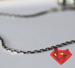Fit Kolekcja - Oxidised Sterling Silver Anchor Link Chain 55 cm