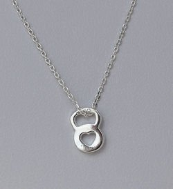 Fit Kolekcja - Sterling Silver Kettlebell Necklace with Heart ❤
