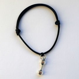 Fit Kolekcja - DUMBBELL String Bracelet - Black