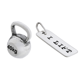 Fit Kolekcja - Set of Two Pendants: KETTLEBELL 001 and I LIFT Charm