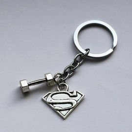 Lazy Superman - Superman and Dumbbell Keychain